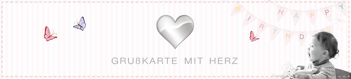 Grusskarte mit Herz