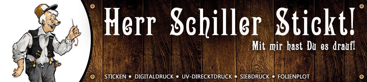 Herr Schiller stickt