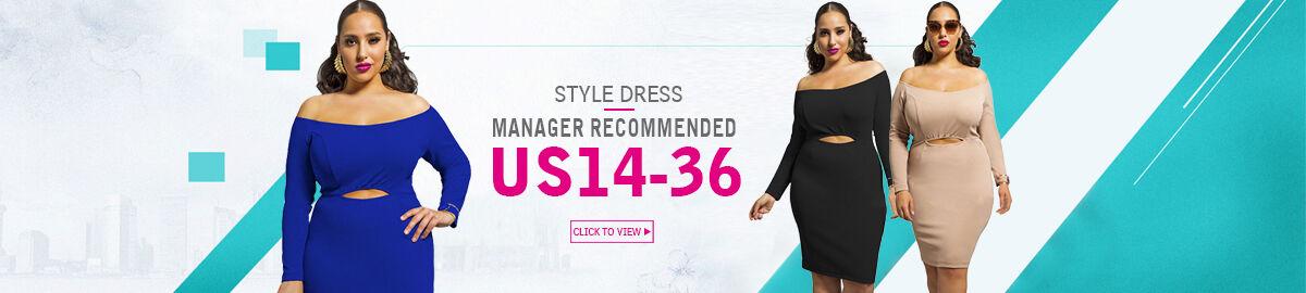 Fashion plus size dress factory