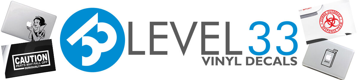 level 33 Vinyl Decals
