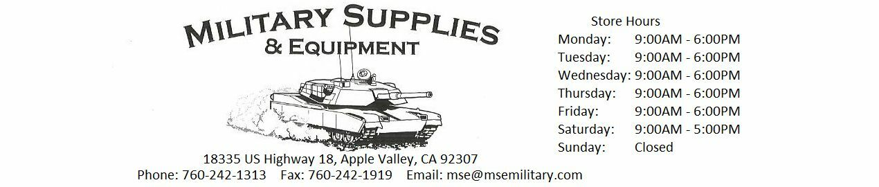 Military Supplies and Equipment