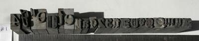 Lot 21 Metal Printing Press Typeset Block Letters Numbers Mixed Fonts Sizes 1
