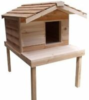 CEDAR WOOD INSULATED CAT HOUSES HST & FREE SHIP INCL