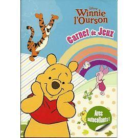 Winnie l 39 ourson carnet de jeux avec autocollants disney - Jeux de winnie l ourson gratuit ...