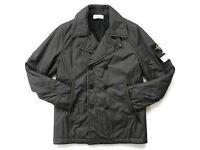 Stone Island Jacket Mens Grey Jacket Mod 571542030 Rubberized Muslin