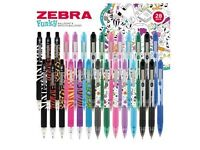 Zebra Funky Ballpoint and Smooth Ballpoint 28 Pack Pens