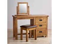 FOR SALE SOLID OAK DRESSING TABLE