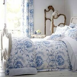 Dorma Blue Toile Double Bedding Complete Set X 2