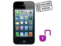 iPhone 4 8GB Black (C Grade) - Unlocked - refurbished