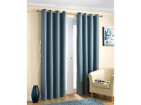 Enhanced Living Wetherby Eyelet Aqua Iliv Curtains Width: 168CM DROP: 229CM BRAND NEW ! ONLY £40 !