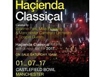 Hacienda classical tickets. Castlefield bowl