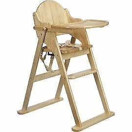 East Coast Folding Wooden High Chair