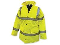 BRAND NEW - XL High Visibility, Lined, Waterproof Jacket