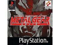 ps1 metal gear solid game and 6 others & 2memory cards