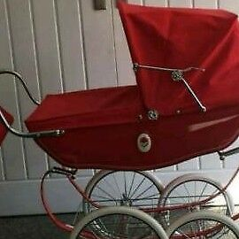 Vintage child's silver cross pram still has unique bag