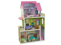 **BRAND NEW DOLL HOUSE**large wooden doll house with furniture -still in an un-opened box - RRP £118