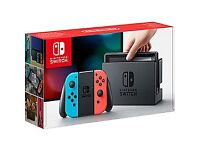 Nintendo Switch Neon Red/Blue (New but Used) + Zelda: Breath of the Wild
