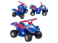 Evo ATV quad bike electric ride on blue & red