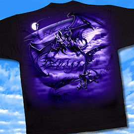 The Swarm t-shirt, dragon swarm T, tee-shirt, double-side tee