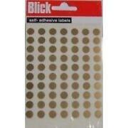 Round Gold Stickers