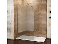 Shower Single Screen Panel 8mm EasyClean Glass Shower.