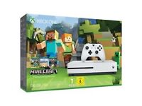 Brand New Xbox One S 500GB Minecraft Console - Boxed and Sealed