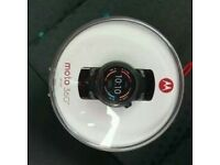 Genuine Brand New Motorola 360 Sport Smart Watch with 2 Year