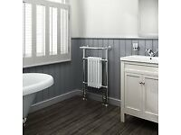 Traditional towel radiator (dual fuel) Water and Electric