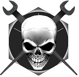 ironworker skull crossed spuds on bolt head decal sticker free shipping. Black Bedroom Furniture Sets. Home Design Ideas