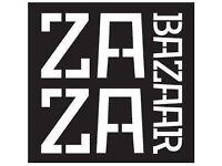 !!!ZAZA BAZAAR RECRUITING CHEFS,BAR STAFF AND FLOOR STAFF UP TO £8.50 PER HOUR!!!