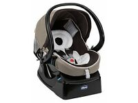 Chicco car seat with isofix base