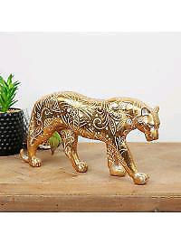 Big gold cat figurine