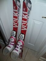 Kid's VOLKL AC110cm Unlimited Skis &Rossignol FunGirl Boots 20.5