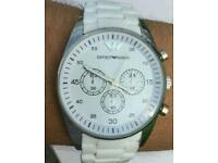 New White Armani watches