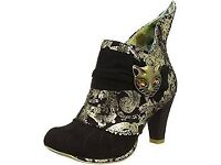 Irregular Choice Women's Miaow Ankle Boots limited edition size 41 / 8