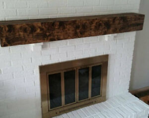 Solid Barn board mantel