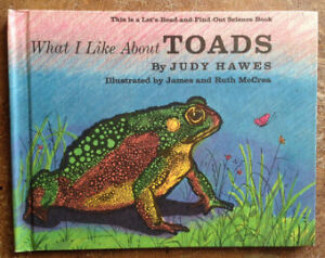 """NEW Book: """"What I Like About Toads"""""""