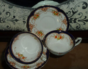 W.H. Grindley Tea Cups and Saucers
