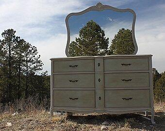 Vintage dresser refurbished with chalk paint