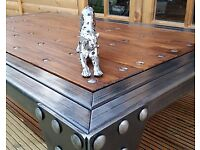 Hand made Steel Oak and Bespoke Industrial Steel Coffee Table