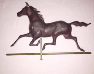 Antique Metal Weathervane topper black horse excellent condition