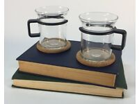 Bodum Retro French Press Cafetiere Carsten Jorgensen With Two Cups Cork Coasters Mats