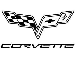 Corvette C5 C6 C7 sticker decal custom sizes and colors  flags vette c 5 c 6 c 7