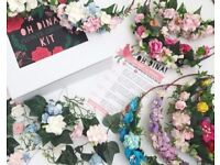 DIY Flower Crown kits (up to 10)-perfect for hen parties, bridesmaids, baby shower, festival
