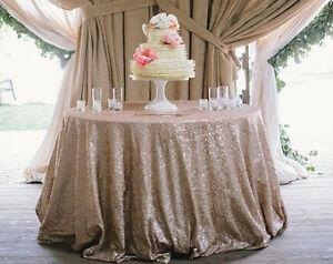 Wedding/Event Decor - Champagne Glitz Sequin Table Cloths