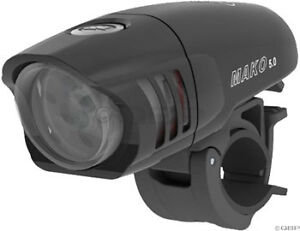 NiteRider Mako 5.0 LED Bike Bicycle Front Headlight: Black
