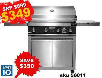 CLEARANCE ON BBQ'S - BBQ 4B DELUXE STAINLESS STEEL W/SIDE GRILL Bundall Gold Coast City Preview