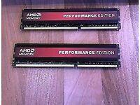 2x 4gb DDR3 amd performance ram 1600mhz