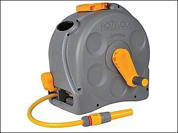 Hozelock 2415 25m 2-in-1 Compact Hose Reel + 25m of Starter Hose HOZ2415