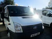 2013 63 FORD TRANSIT 2.2 350 DRW DOUBLE CAB TIPPER 125 BHP DIESEL